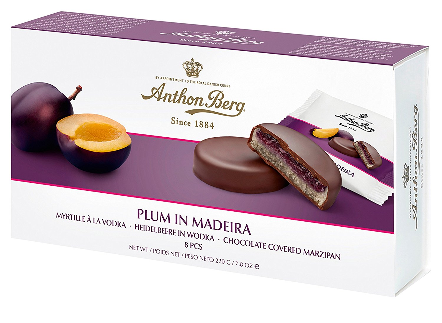 Anthon Berg Plum in Madeira Marzipan 220g