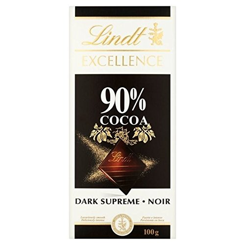 Lindt Excellence 90% Dark Supreme Chocolate Bar 100g